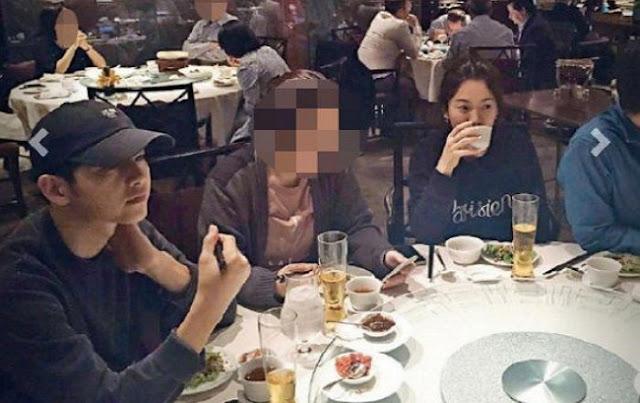 Lộ ảnh hiếm hoi buổi hẹn ăn tối của Song Joong Ki và Song Hye Kyo tại nhà hàng Hồng Kông