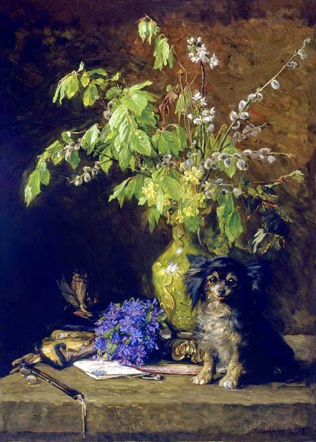 Bertha Wegmann - Spring Bouquet with Dog