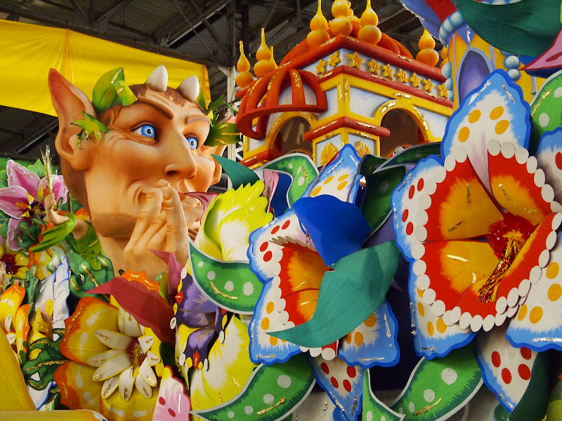 Float at Mardi Gras World New Orleans