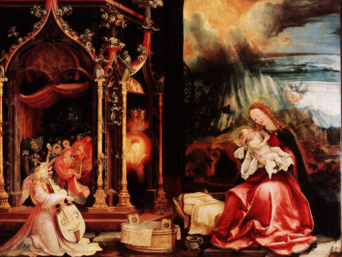 The Nativity, by Matthias Grunewald