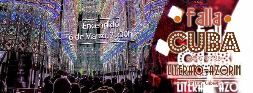 Fallas de Valencia, encendido iluminación