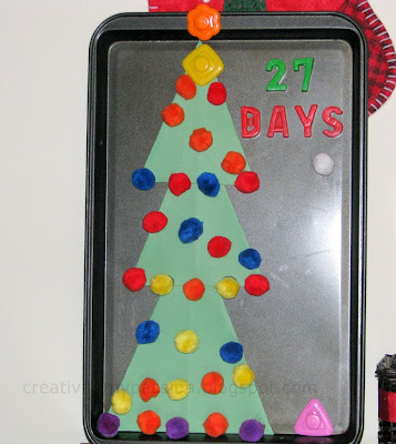 Magnetic Christmas countdown