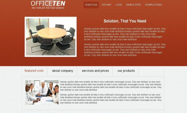 Business Office Red Free Joomla Theme Template