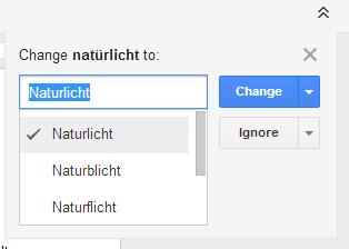 Google Docs Rechtschreibkorrektur
