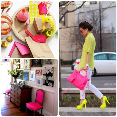 Neon gift wrapping Neon home decor neon shoes