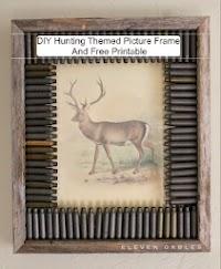 DIY Hunting Themed Rustic Frame and Deer Print