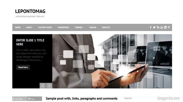 Leponto Mag Blogger template