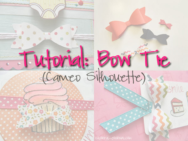 tutorial video bow tie cameo silhouette step by step cards scrapbooking papers