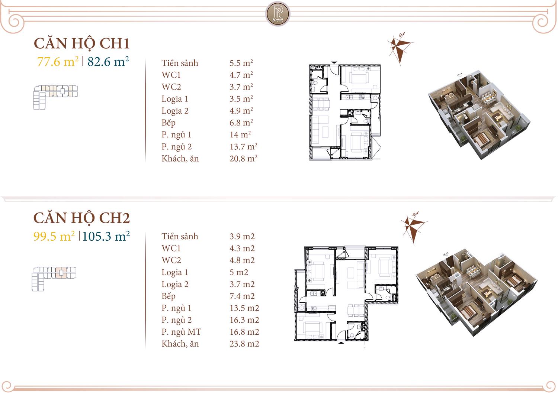 Chi tiết căn 01-02 chung cư Roman Plaza