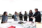 5 de Noviembre de 2012. Parque Cultural de Valparaíso, Chile. Francois Hebel con los alumnos de la residencia del FIFV 2012.