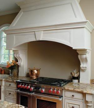 Beautiful Limestone Range Hood Simply Done To Replicate A European Model