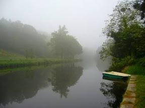 randonnee en trottinette le long du canal de Nantes a Brest, paysage