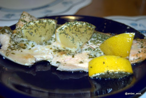 Trout with tarragon and lemon