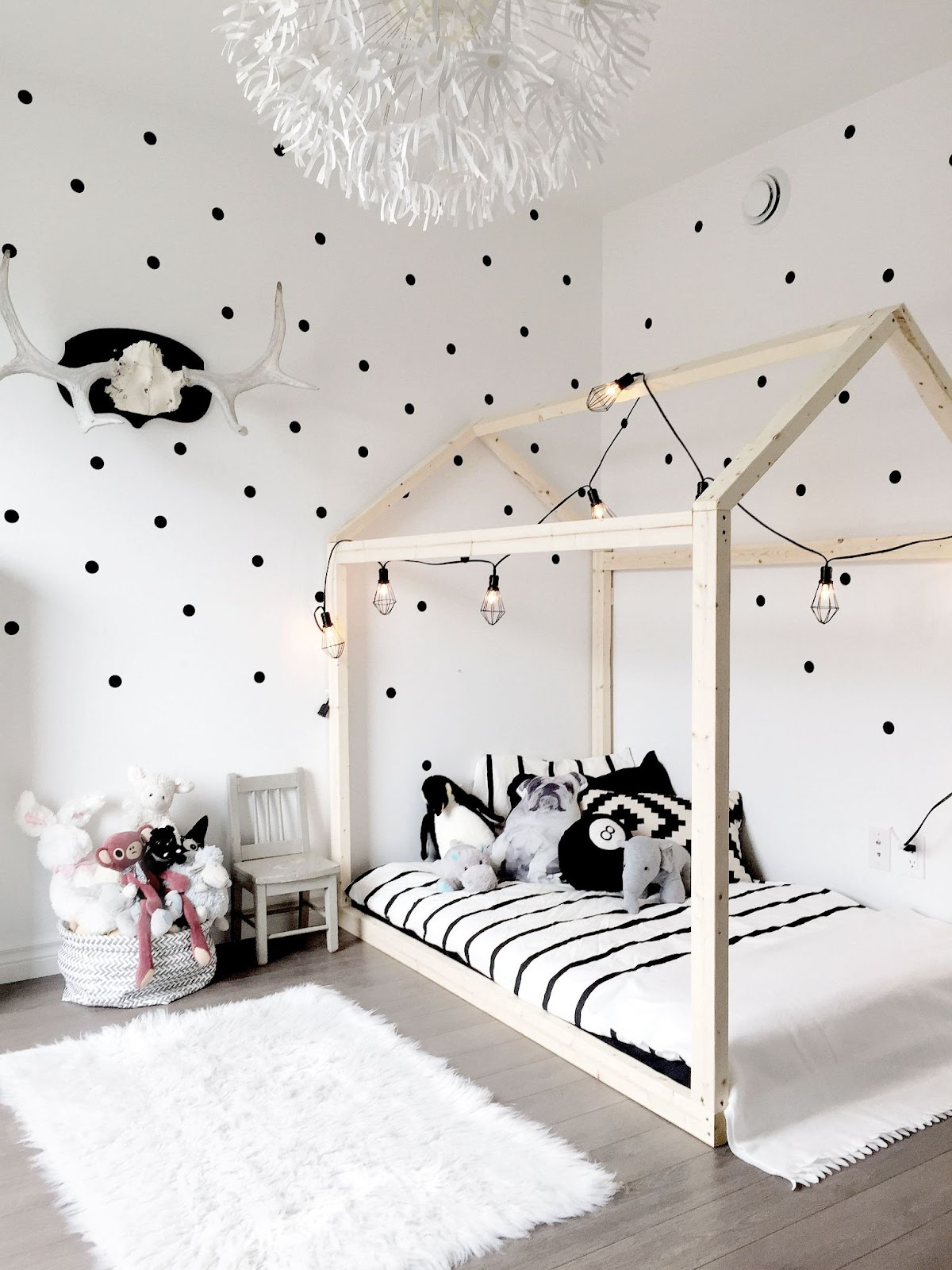Give Your Boy's Wall the Polka Dot Treatment Boys Bedroom Painting Ideas