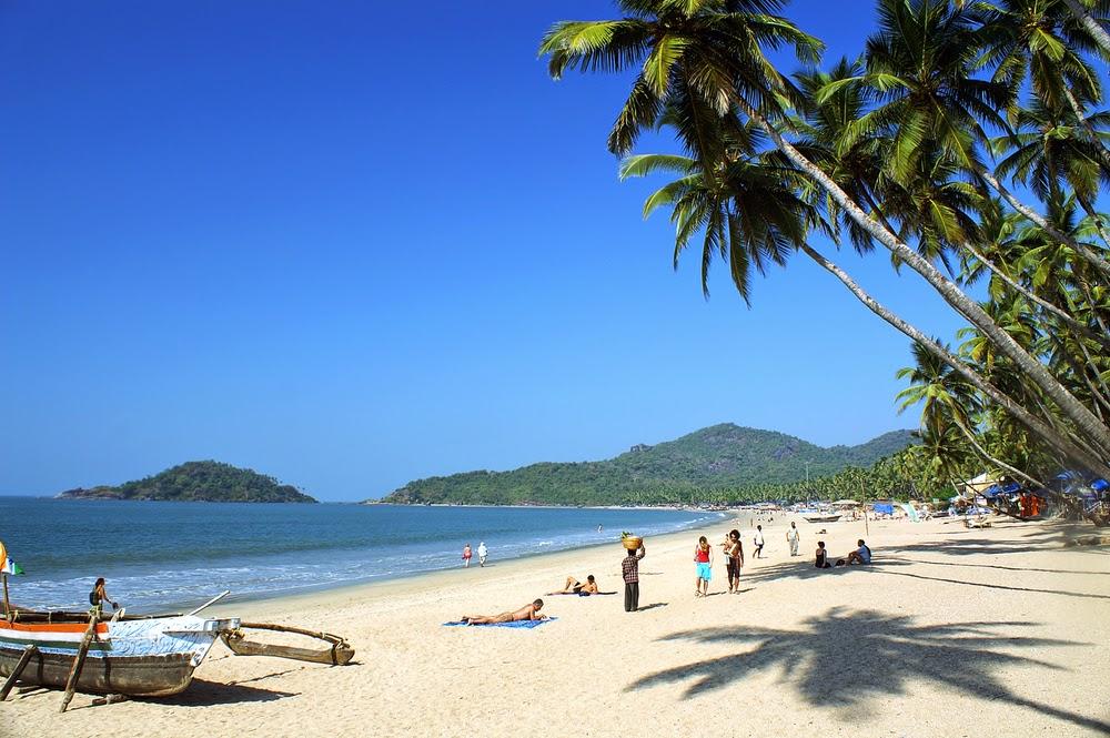 Tropical beach. Palolem beach in Goa.