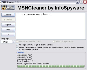 MSN Cleaner - Tirando Vírus de Msn