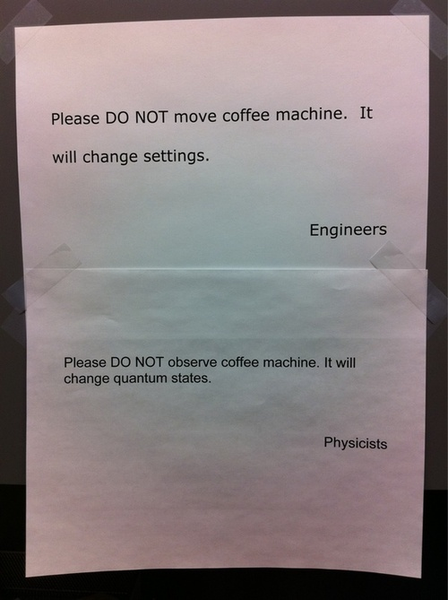 Engineers vs. Physicists...