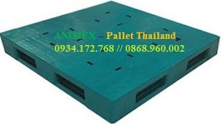 Pallet nhựa 2 mặt cao 180mm