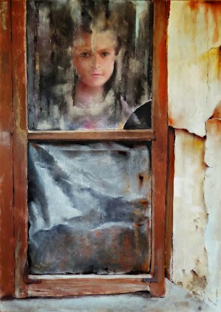 la casa de enfrente, pintura del pintor Carlos Casu