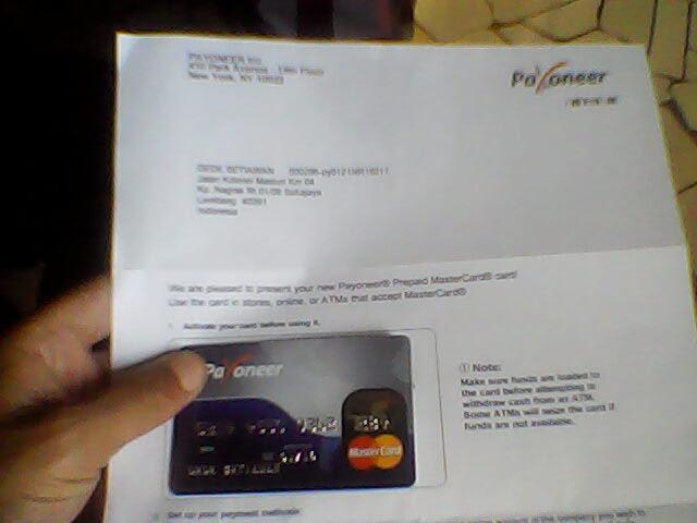 Cara gratis membuat debitcard payoneer