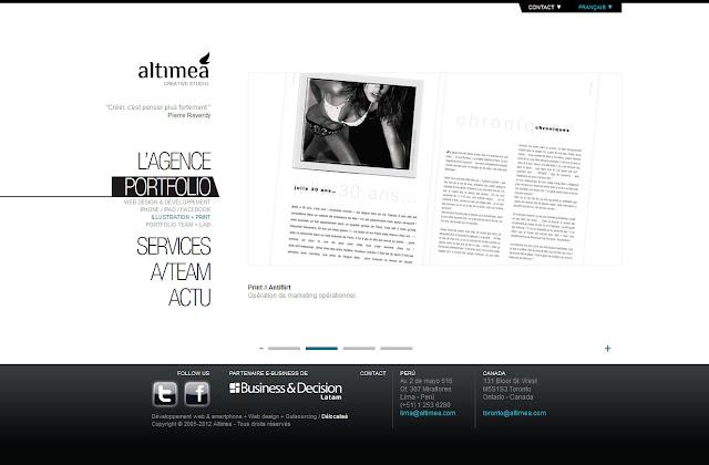 *科技感十足的「翼」Web Design|Agence Web Site 9