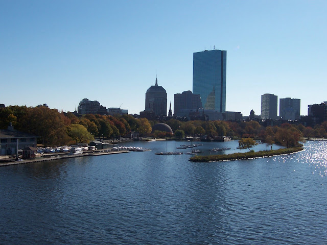 Charles River and the Boston skyline (photo by annajcook, Nov. 2007)