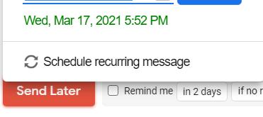 schedule recurring message