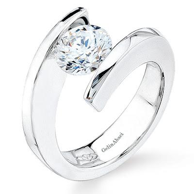 Tension Wedding Ring 31 Stunning Tension Setting Ring Gelin