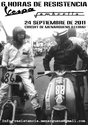 6 HORAS RESISTENCIA VESPA/LAMBRETTA MENÀRGUENS (24-09-2011) Cartel_Menarguens_2011