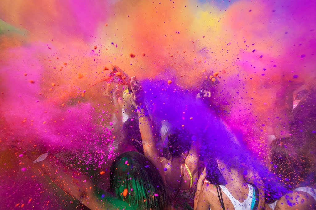 Colour explosion in Holi Festival in India