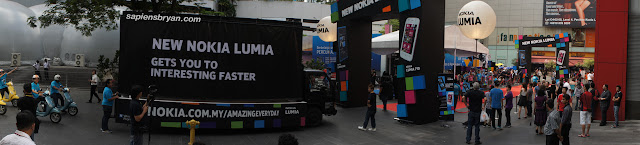 Panoramic View Of Nokia Lumia Launch At Pavilion KL