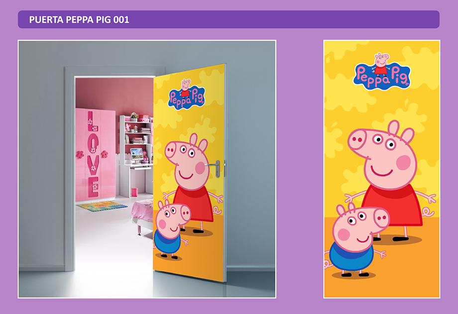 Peppa Pig - Puerta Mural Sticker Adhesivo Gigante - Arteygraficadigital