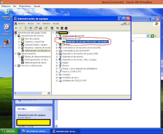 Solución al no acceso a internet con virtualbox
