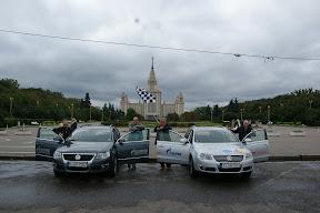 Blue Corridor 2012. Załogi E.ON Ruhrgas i Volkswagen Rosja na starcie Rajdu