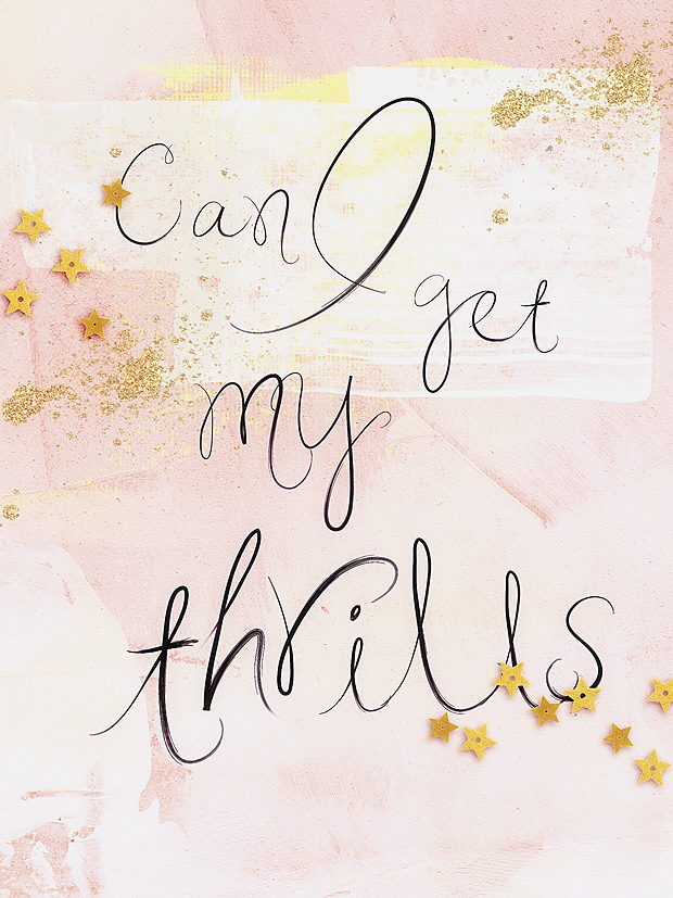 Scrapbook Layout // Wordart // Can  I Get My Thrills