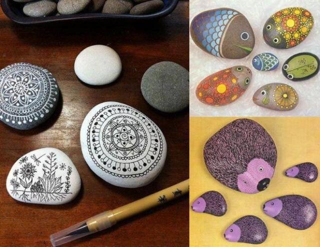 Nube lim n ideas hechas a mano manualidades con piedras for Ideas para pintar piedras