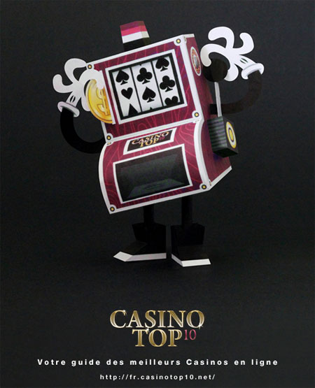 Casino Top10 Slot Machine Paper Toy