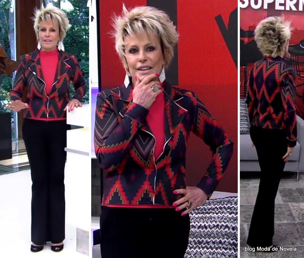 moda do programa Mais Você - look da Ana Maria Braga dia 15 de maio