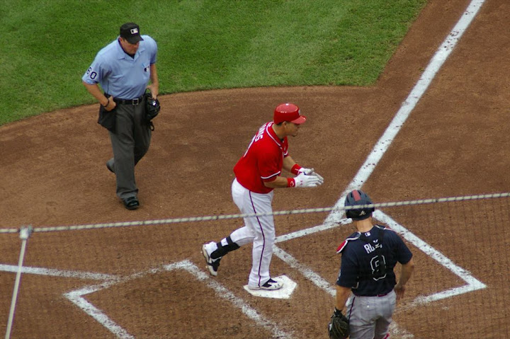 Ramos crosses the plate
