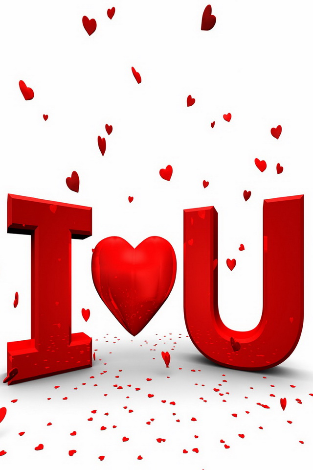 I Love You Red Heart Wallpapers For iPhone 4
