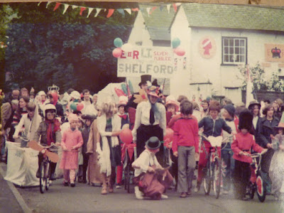A parade down Church Street, Little Shelford on the Queen's Silver Jubilee, 1977
