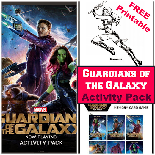 Free Printable Guardians of the Galaxy Coloring Pages and Activity Sheets - 28 Total!