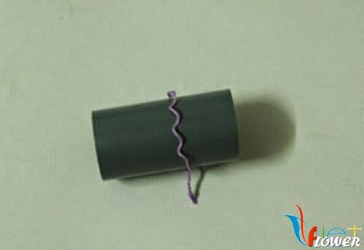 Làm hoa tường vi bằng vải voan - bước 2