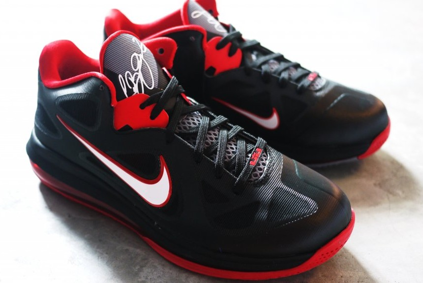 Upcoming Nike LeBron 9 Low 8211 Black White Red ... 6f016b7ad