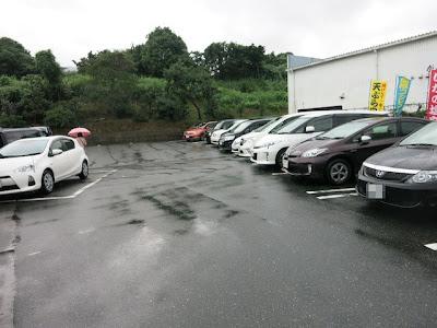 お店の横にある駐車場
