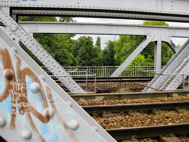 Weg über Eisenbahnbrücke