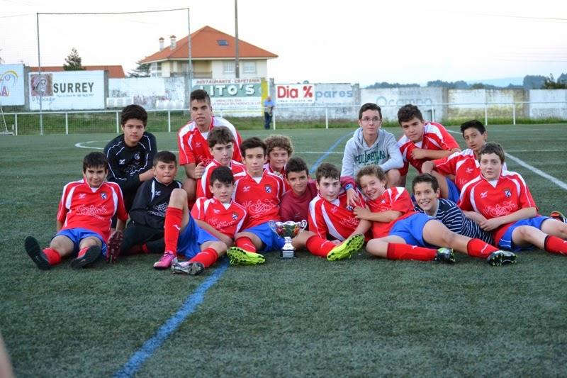 Cadetes, campións de II Trofeo Vila de Ares. Numancia de Ares 01/10/2014