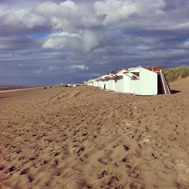Detalle playa De Haan