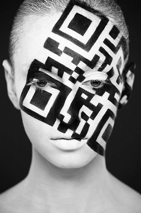 Retratos creativos en blanco y negro