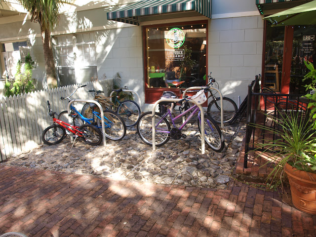 Bike parking at Limerock Road Neighborhood Grill